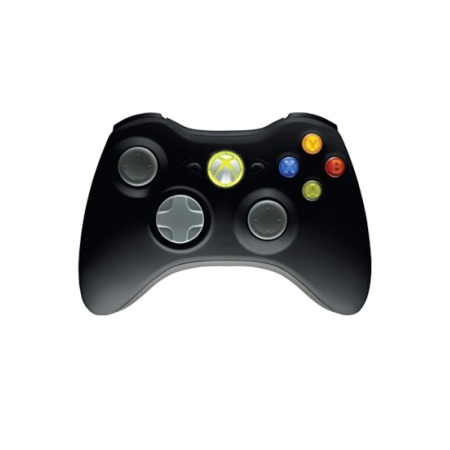 Microsoft Wireless Xbox 360 Controller Black Gamepad