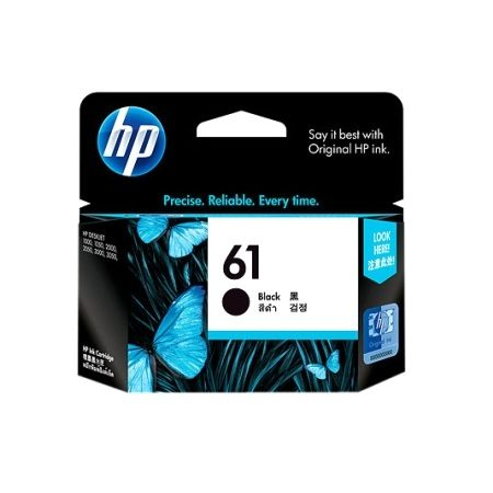 HP 61 Black Ink Cartridge Inkjet Printer Supplies