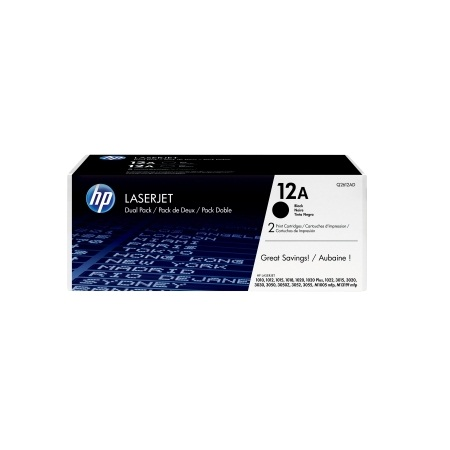 HP 12A Black Twin-Pack Laserjet Toner Cartridge