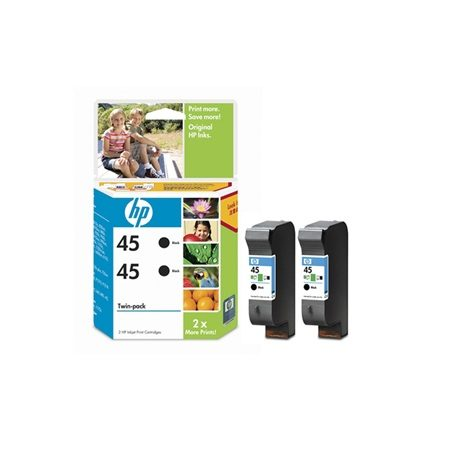 Hp 45 Black Twin Pack CC625AA Ink Cartridge