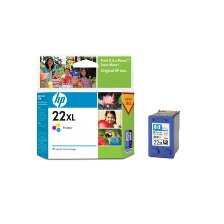HP 22XL TRI-COLOR C9352CA Cyan INK CARTRIDGE