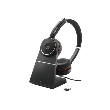 Jabra Evolve 75 Charging Stand Link 370 MS Headset