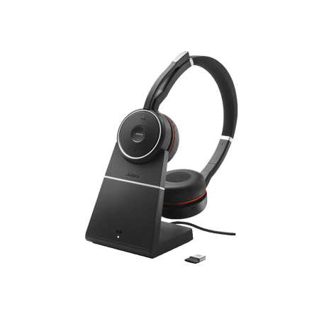 Jabra Evolve 75 Charging Stand Link 370 MS Headset
