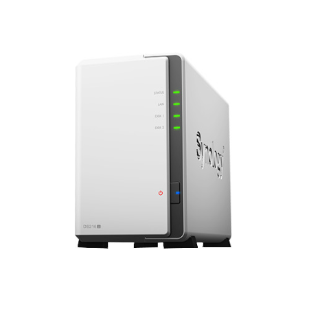 Synology DS216j 2Bay 1.0 GHZ DC 1x GBE 3x USB3.0 NAS Storage System